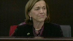 Les  llàgrimes i l'emoció han impedit parlar a la ministra de Treball, Elsa Fornero.