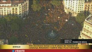 Més imatges aèries de la manifestació