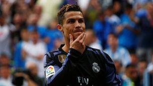 Cristiano després de fer el seu gol a Màlaga (Reuters)