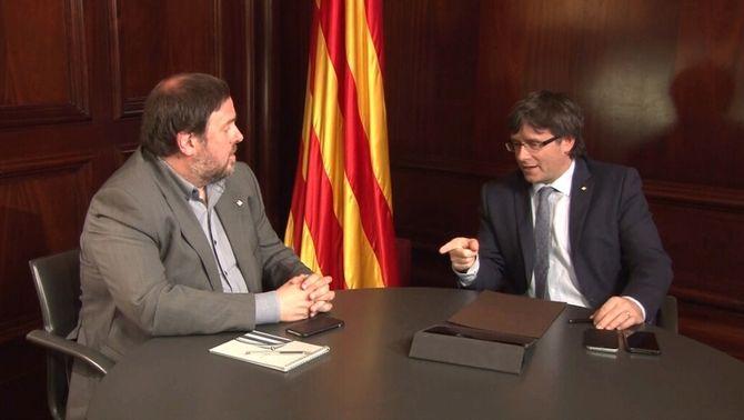 Entrevista a Puigdemont i Junqueras aquest vespre a TV3 i Catalunya Ràdio