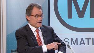 """El president del PDeCAT, Artur Mas, aquest divendres a """"Els matins"""" de TV3"""