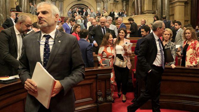 """Fracassa la moció de censura de Cs contra Torra entre acusacions de """"fake"""" i """"farsa"""""""
