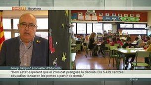 El conseller d'Educació explica el detall del tancament de centres educatius a Catalunya