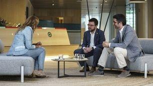 """Pere Aragonès i Jordi Puigneró: """"Catalunya s'ha de digitalitzar en massa"""""""