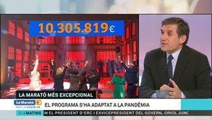 """Lluís Bernabé: """" L'èxit de La Marató 2020 s'ha aconseguit amb molta feina i compromís de tots"""""""