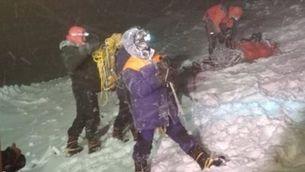 Unitats d'emergència durant el rescat a l'Elbrús