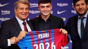 """Pedri: """"És un dia molt feliç per a mi i espero estar al Barça encara molts més anys"""""""