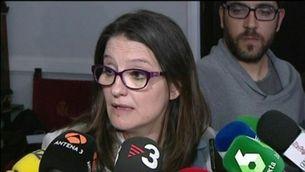 """Oltra al PSOE: """"Amb 90 diputats, com poden pretendre tenir un govern en solitari?"""""""