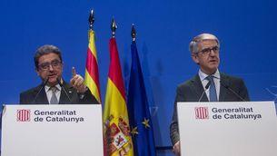 Enric Millo i José Antonio Puigserver, aquest dimecres a Barcelona (EFE)