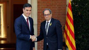 Sánchez rep Torra a La Moncloa