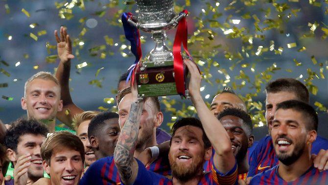 El Barça guanya el Sevilla (1-2) i es proclama campió de la Supercopa d'Espanya per tretzena vegada