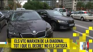 Imatge de:Els VTC marxen de la Diagonal de Barcelona