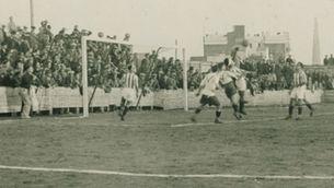Partit de futbol durant la Guerra Civil