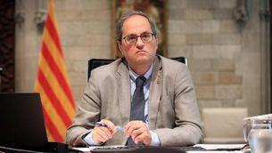 El president de la Generalitat, Quim Torra, durant la reunió de presidents amb Pedro Sánchez (ACN/Jordi Bedmar)