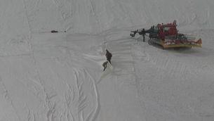 Lones per protegir la glacera de Presena de l'escalfament global