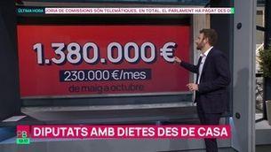 Diputats amb dietes des de casa: el Parlament els ha pagat des del maig 1,4 milions