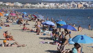 Turistes en una platja de Mallorca