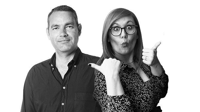 Òscar Fernández i Elisenda Carod, presentadors de les tardes de Catalunya Ràdio