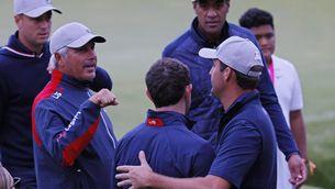 L'equip d'Estats Units, durant el primer dia de la Ryder Cup