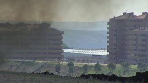 Continua cremanat el cementeri de pneumàtics de Seseña