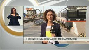 Incidències en la circulació de trens a Tarragona