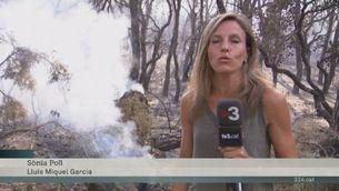 Els bombers han controlat l'incendi de Blanes