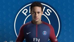 El muntatge de Neymar amb la samarreta del PSG (@esp_interativo)