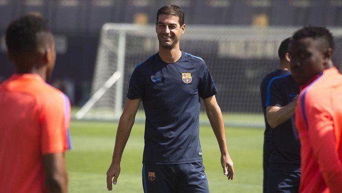 Gerard López i Gabri firmen els contractes de renovació com a entrenadors del Barça B i el juvenil A