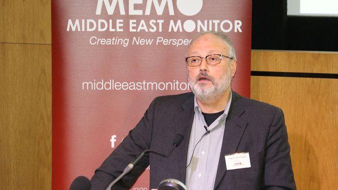 Jamaal Khashoggi, en una conferència (Reuters)