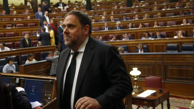 Junqueras, al Congrés dels Diputats el 21 de maig passat (ACN / Javier Barbancho)