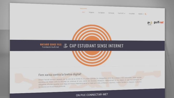 Mataró Sense Fils, una iniciativa perquè cap estudiant es quedi sense internet