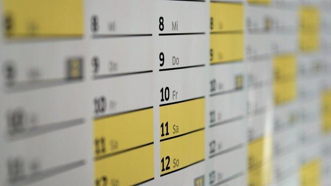 Calendari laboral 2021: dos ponts, tres caps de setmana llargs i tres dissabtes festius