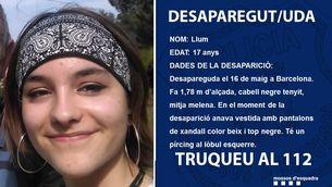 Busquen una noia de 17 anys desapareguda a Barcelona