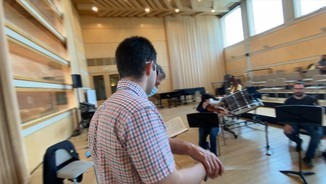 Imatge de:El primer director d'orquestra cec de l'Estat