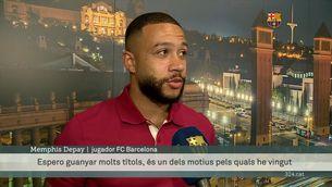 Memphis Depay aterra a Barcelona amb ambició