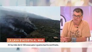 """Joan Martí, vulcanòleg: """"L'erupció ja ha arribat a la màxima intensitat i ara començarà a decréixer"""""""