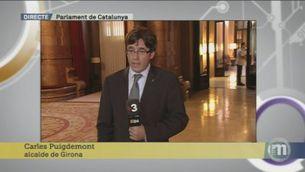 """Puigdemont: """"Preveure un restabliment seria especular. No m'ha trucat ningú d'Adif o Foment"""""""