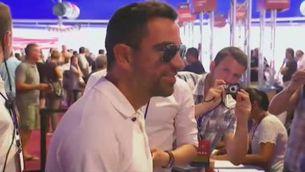 Xavi Hernández ha vingut des de Qatar per votar