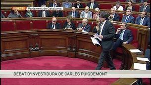 Especial informatiu del debat d'investidura