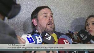 Junqueras es troba amb De Guindos a l'aeroport