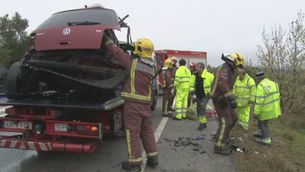 Un accident a l'N-II provoca 7 morts
