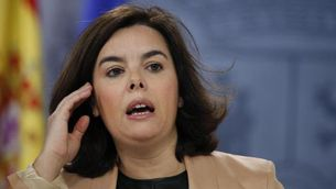 La vicepresidenta del govern espanyol en funcions, Soraya Sáenz de Santamaría, en una roda de premsa recent (EFE)