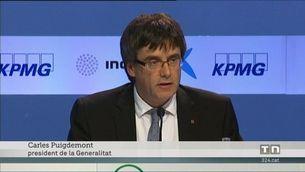 Carles Puigdemont anuncia una rebaixa de l'IRPF per a les rendes més baixes