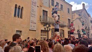 Moment de l'homenatge a Pau Pérez, a Vilafranca del Penedès ( @justiciacat)