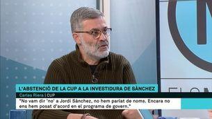 """Carles Riera: """"Ens abstindrem a la investidura de Sànchez, perquè discrepem del programa de govern"""""""