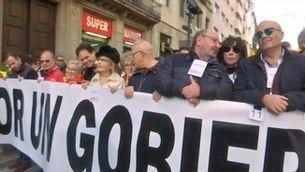 Santiago Abascal, l'atracció de la manifestació de la Constitució a Barcelona