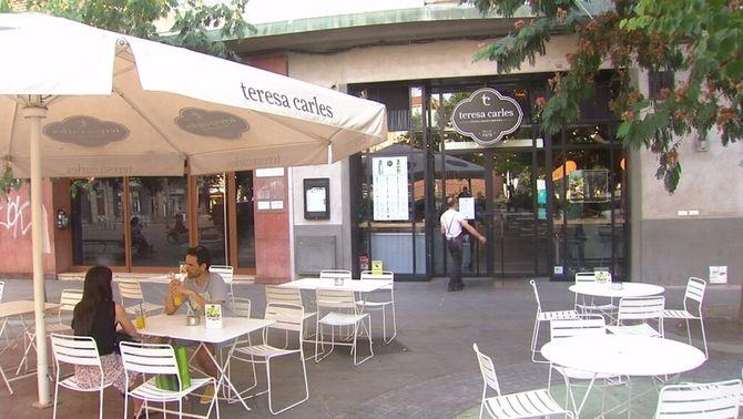 Comerços i restaurants sense clients a Lleida després del confinament perimetral