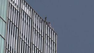 Escalador detingut a Barcelona