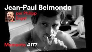 Jean-Paul Belmondo, per Philipp Engel: cara dura, llavis molsuts
