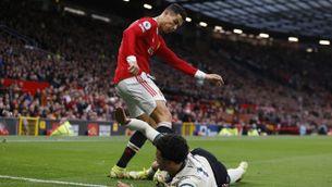 Cristiano Ronaldo, en el moment de l'agressió